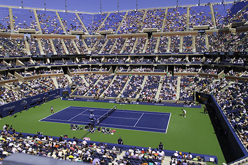 Arthur Ashe Stadium, photo by Clif Burns