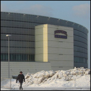 By Paul Holloway from Birmingham, United Kingdom (The Hartwall Arena  Uploaded by Fæ) [CC-BY-SA-2.0 (http://creativecommons.org/licenses/by-sa/2.0)], via Wikimedia Commons http://commons.wikimedia.org/wiki/File%3AThe_Hartwall_Arena_(100452288).jpg