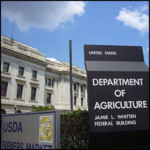 USDA by Dlz28 via https://en.wikipedia.org/wiki/File:United_States_Department_of_Agriculture,_Jamie_L._Whitten_Federal_Building,_Washington_DC_(12_June_2007).JPG [Public Domain]