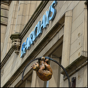 Animal at Barclays by Gareth Milner [CC-BY-SA-2.0 (http://creativecommons.org/licenses/by-sa/2.0)], via Flickr https://flic.kr/p/fj2Kkg [cropped]
