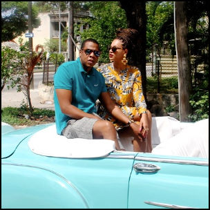Jay-Z and Beyoncé in Cuba via http://iam.beyonce.com/post/50677935277 [Fair Use]