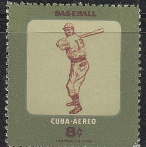 Cuba Baseball Stamp [Fair Use]