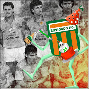 Envigado Soccer Team and Mascot via http://www.envigadofutbolclub.net/noticias/200-25-anos-llenando-de-heroes-a-colombia [Fair Use]