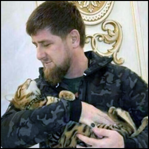 Ramzan Kadyrov and Cat via his Instagram account [Fair Use]
