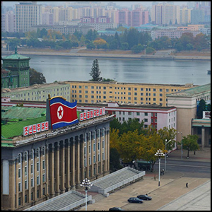 Kim Il Sung Square in Pyongyang by Uri Tours [CC-BY-SA-2.0 (http://creativecommons.org/licenses/by-sa/2.0)], via Flickr https://flic.kr/p/pQmzeV [cropped]