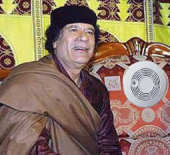 General Qaddafi and his new American smoke detector