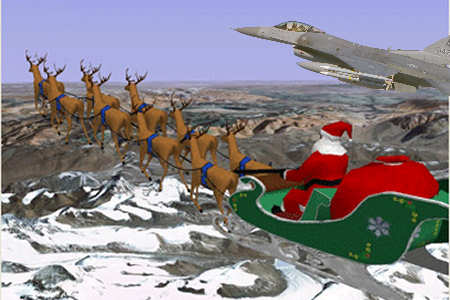 Santa Flanked by F-16