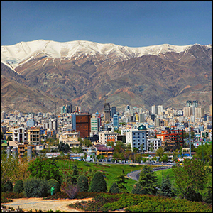 Tehran by Ninara [CC-BY-SA-2.0 (http://creativecommons.org/licenses/by-sa/2.0)], via Flickr https://flic.kr/p/7QX7nZ [cropped and processed]