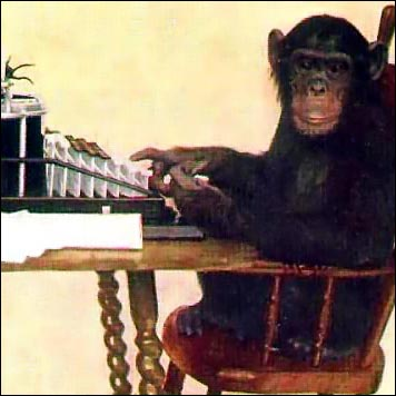Monkey Typing via Wikimedia Commons http://commons.wikimedia.org/wiki/File:Monkey-typing.jpg [Public Domain]