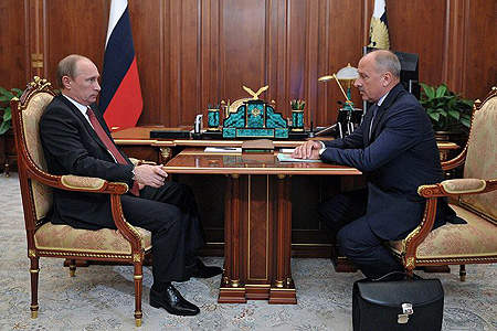 Putin and Vnesheconombank Chairman Dmitriev http://www.veb.ru/en/press/news/arch_news/index.php?id_19=30398 [Fair Use]