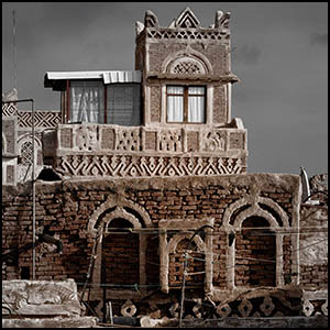 Sanaá, Yemen by Rod Waddington [CC-BY-SA-2.0 (http://creativecommons.org/licenses/by-sa/2.0)], via Flickr https://www.flickr.com/photos/rod_waddington/16293960729[cropped]